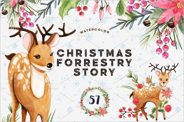Christmas Story Scene Painting Design