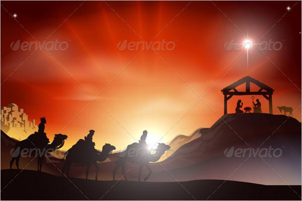 Christmas Story Scene Template
