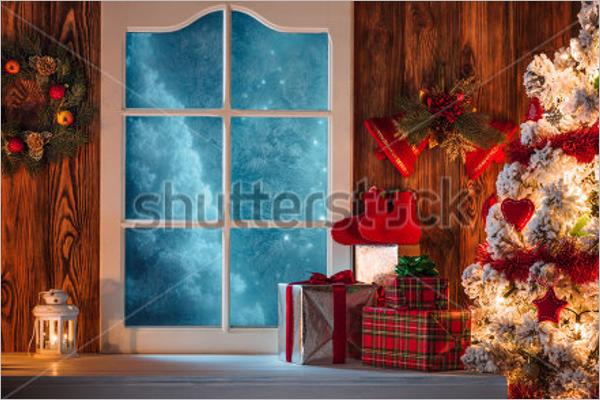 Christmas Street Scene Decoration