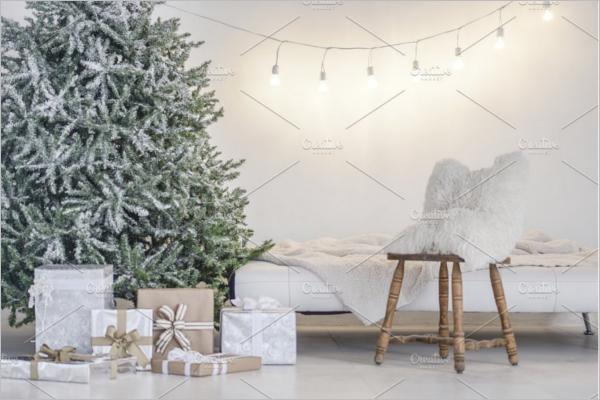 Christmas Tree Backdrop Design