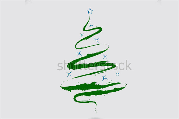Christmas Tree Colour Pencil Drawing