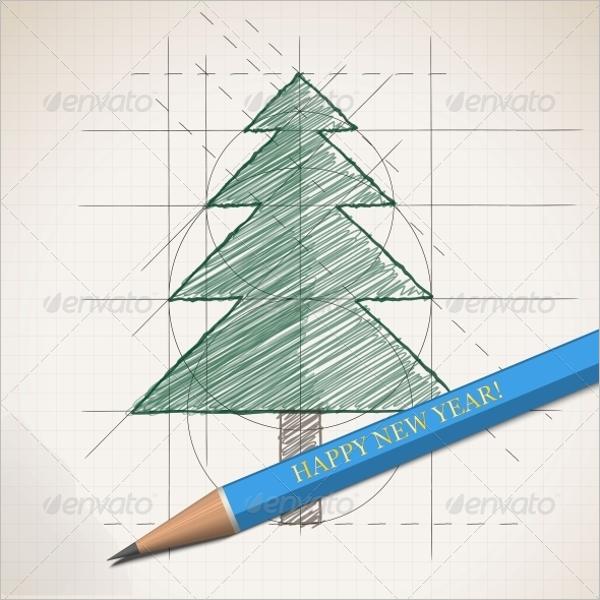 Christmas Tree Drawing Decoration