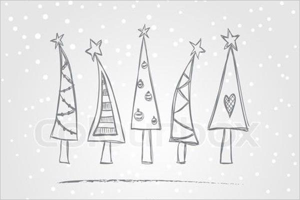 Christmas Tree Drawing Design