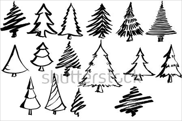 30 Christmas Tree Drawing Easy Ideas For Kids Creative Template