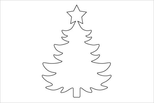 Christmas Tree Drawing Outline