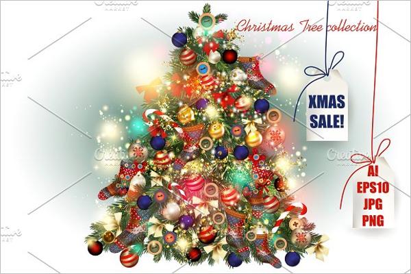 Christmas Tree Drawing Set