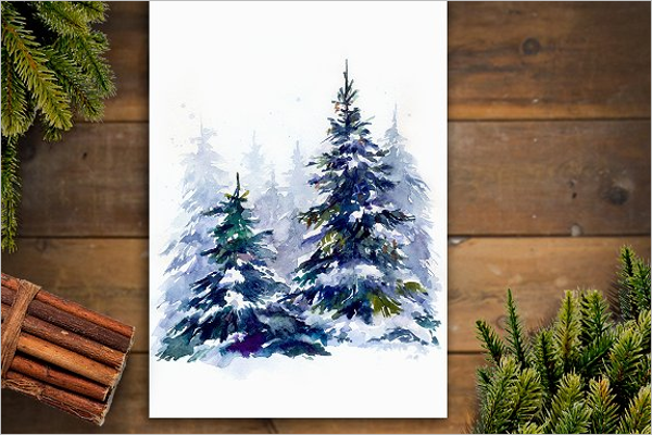 Christmas Tree Hand Draw Template
