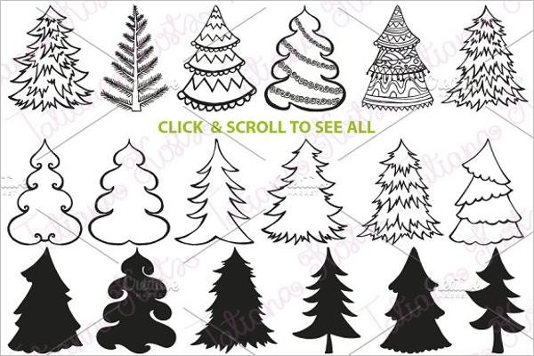 Christmas Tree Set DIY Vector
