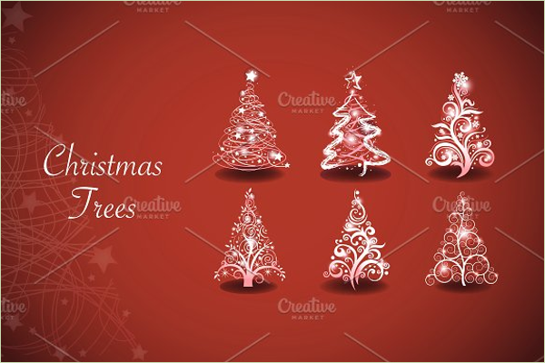 Christmas Tree Vector Template