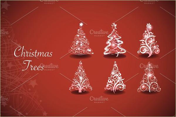Christmas Tree Vector Template