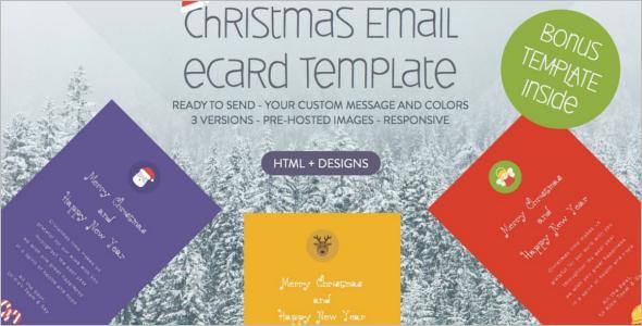 Christmas eCard HTML Template
