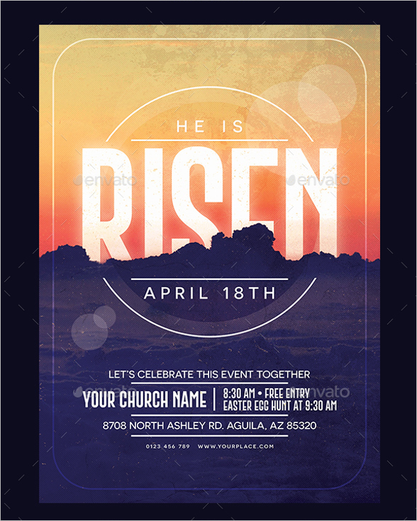Church Poster Vector Template