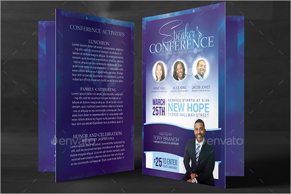 Sample Church Brochure Templates Free PSD PDF Design Ideas - Conference brochure template