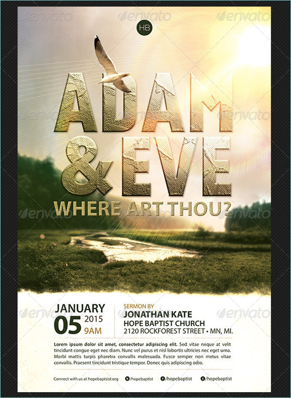 Church Services Poster Template