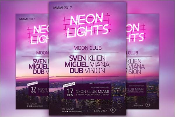 City Club Poster Design