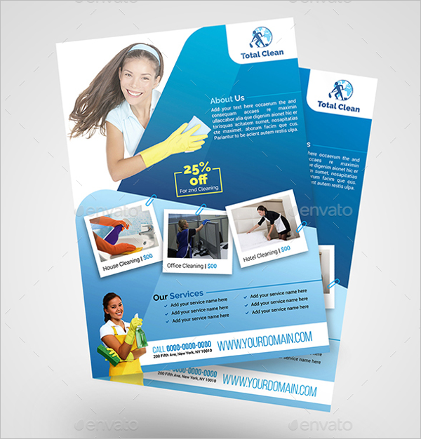 Cleaning Office Flyer Template