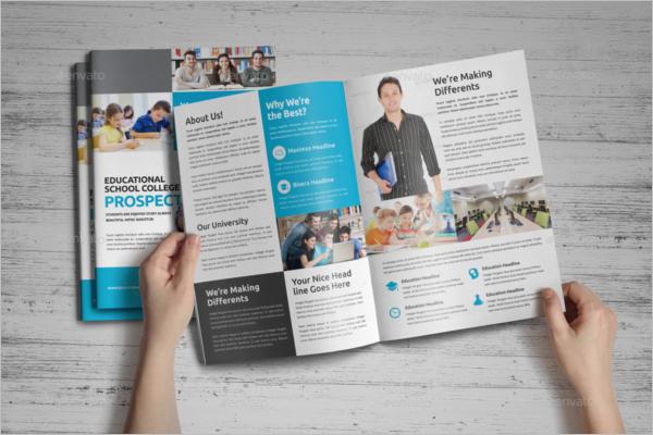 40 college brochure templates free psd pdf word sample for College brochure design ideas