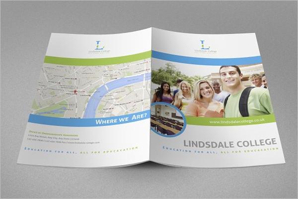 College Brochure PSD Template
