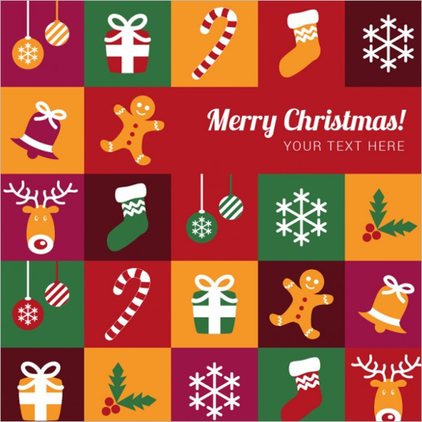 Colorful Merry Christmas Template