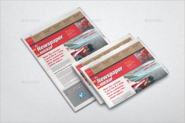 Colorful Newspaper Mockup Template