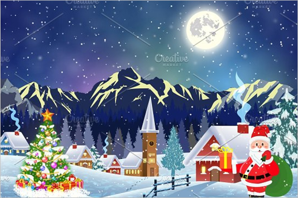 Complete Christmas Village Template