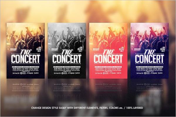 Concert Band Flyer Template
