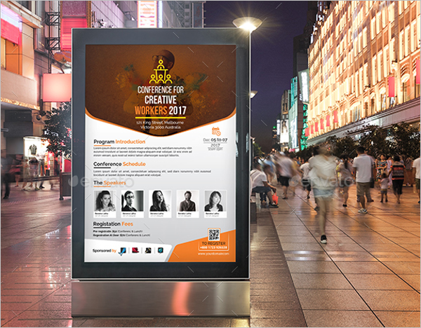 Conference Poster Template PSD
