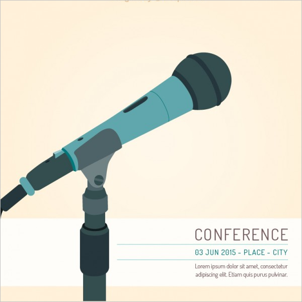 Conference Poster Template Vector