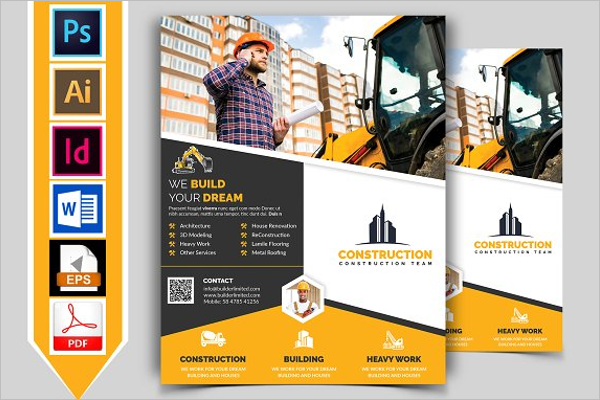 Construction Flyer Template Word