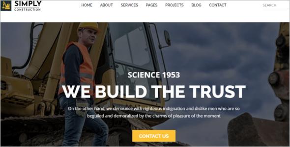 ConstructionWebsite Template
