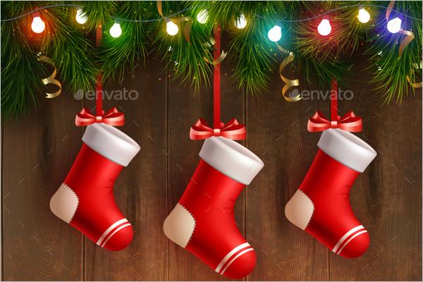 Country Christmas Stocking Idea