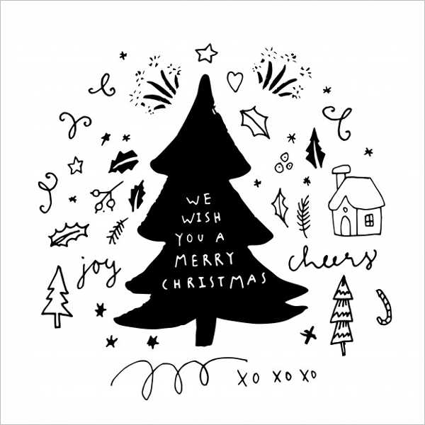 Creative Christmas Tree Drawing