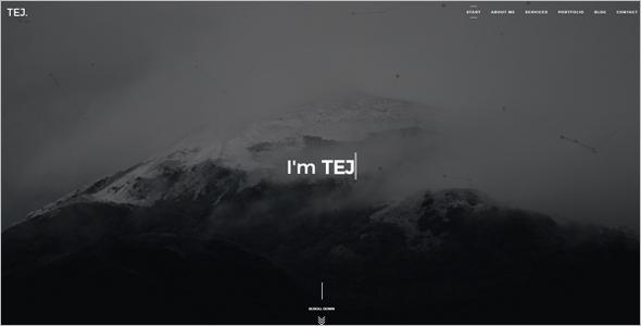 Creative Personal Website Template