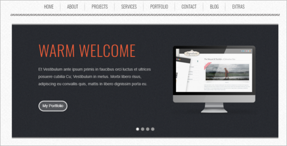 Creative Retro Website Template