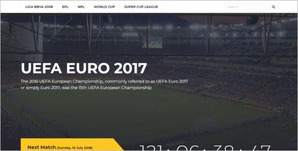 Cricket Sports Website Template