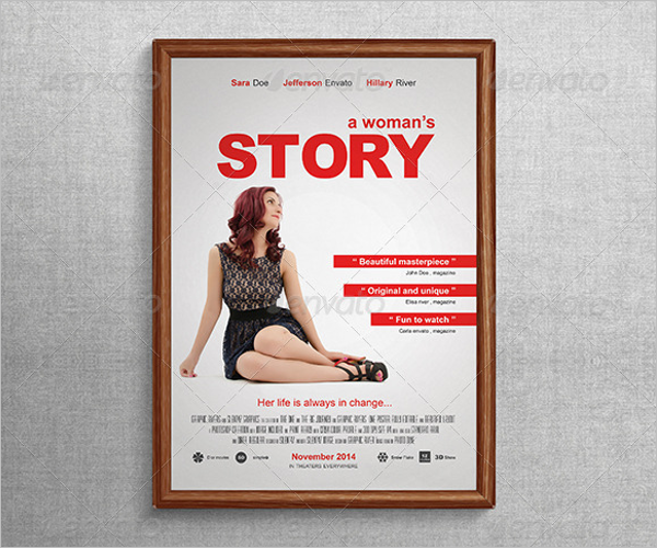 Custmoziable Poster PSD Design