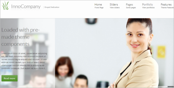 Customizable Corporate Drupal Theme