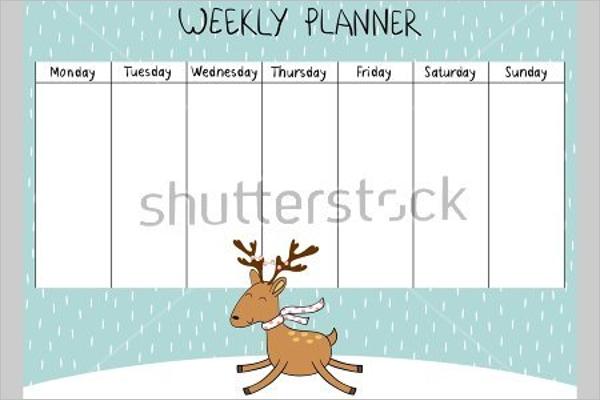 Cute Weekly Planner Design