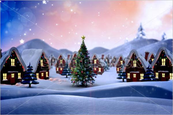 Cute Christmas village Design