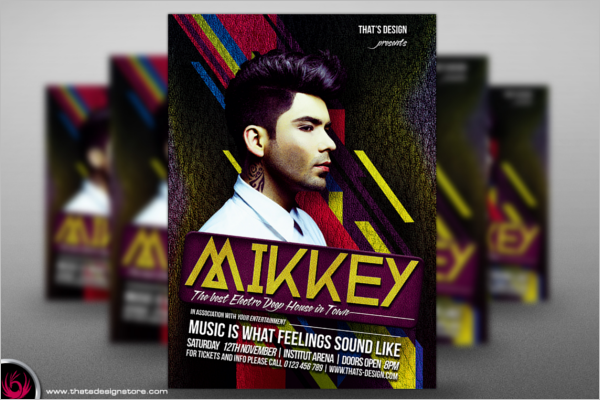 DJ Poster Design Template