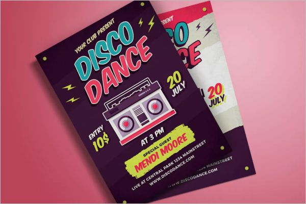 Dance Club Poster Design