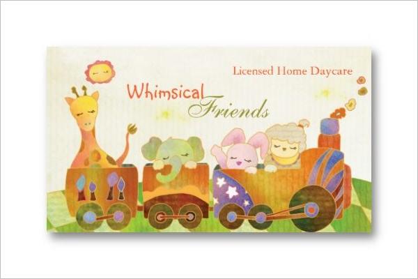 Daycare Business Card Design