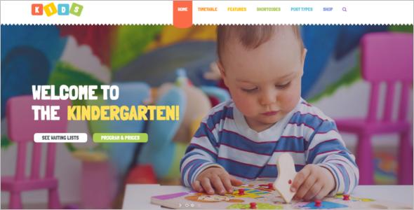 Daycare & Kindergarten WordPress Theme