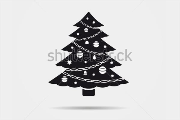 Decorative Black Christmas Tree Design