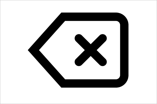 Delete Sign Icon Design
