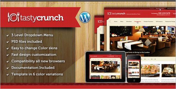 DeliciousRestaurant Website Theme