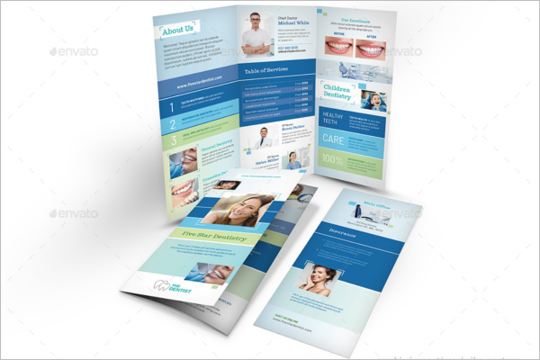 Dentist Office Trifold Brochure Template