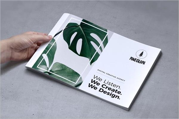 Digital Brochure Template PSD