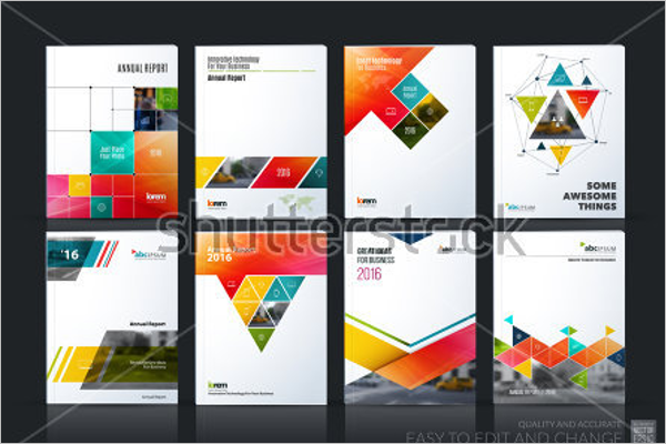 Digital Brochure Vector Template