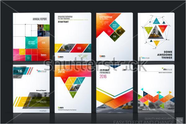 Digital Brochure Vector Template